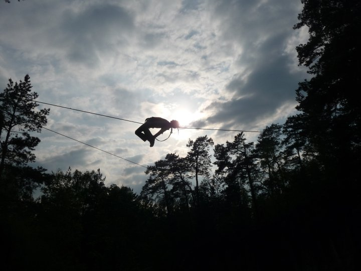 Voříšek a trik na highline
